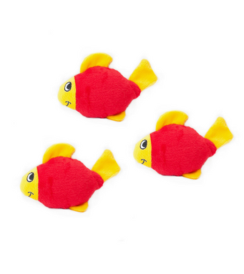 ZippyPaws Burrow Refill (3/Pack) Fish Dog Toys