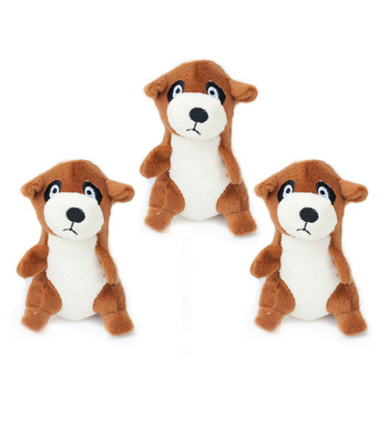 ZippyPaws Burrow Refill (3/Pack) Meerkats Dog Toys