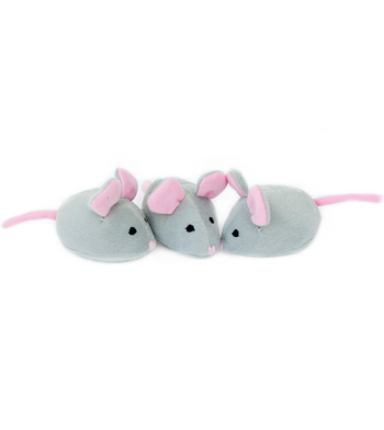 ZippyPaws Burrow Refill (3/Pack) Mice Dog Toys