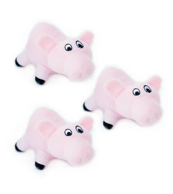 ZippyPaws Burrow Refill (3/Pack) Pigs Dog Toys