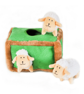 ZippyPaws Burrow Sheep Pen Dog Toys