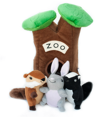 ZippyPaws Burrow XL Zoo Dog Toys