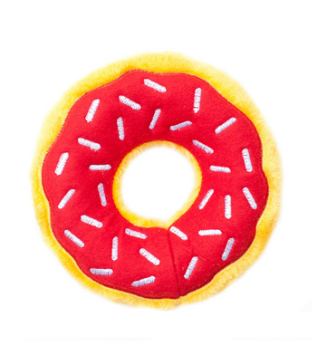 ZippyPaws Donutz Cherry Dog Toys