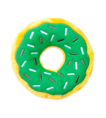 ZippyPaws Donutz Mint Chip Dog Toys