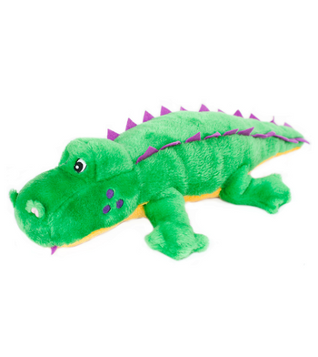 ZippyPaws Grunterz Alvin the Alligator Dog Toys