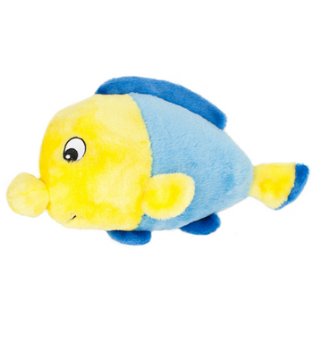 ZippyPaws Grunterz Finn the Fish Dog Toys