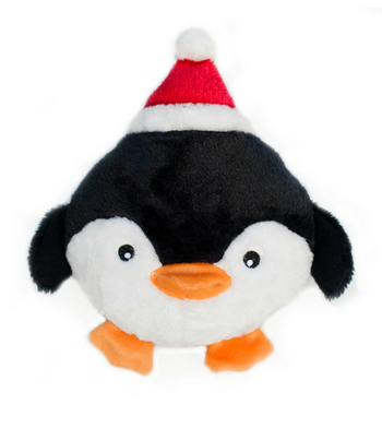 ZippyPaws Holiday Brainey Penguin Dog Toys