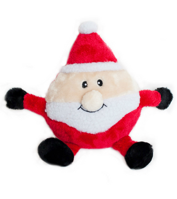 ZippyPaws Holiday Brainey Santa Dog Toys