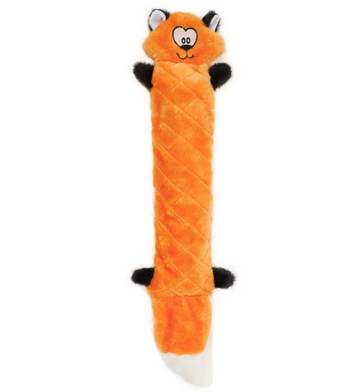 ZippyPaws Jigglerz Fox Dog Toys