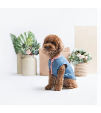 Ohpopdog Blue Linen Pink Shirt Apparel