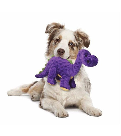 goDog Bruto Purple Dinosaur with Chew Guard Technology Dog Toy