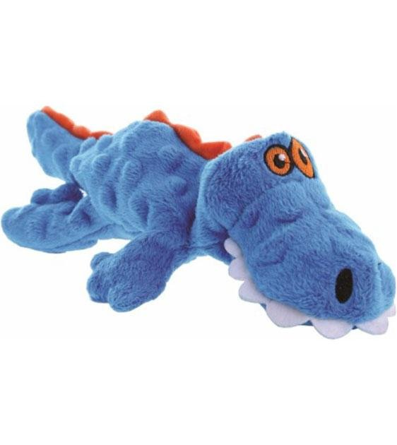 goDog Gator Blue Dinosaur with Chew Guard Technology Dog Toy