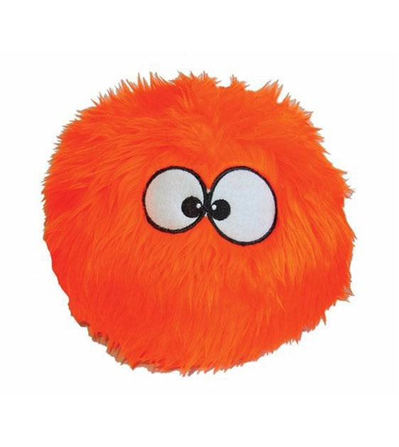 goDog Orange Furballz with Chew Guard Technology Dog Toy