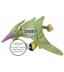 goDog Terry Green Dinosaur with Chew Guard Technology Dog Toy