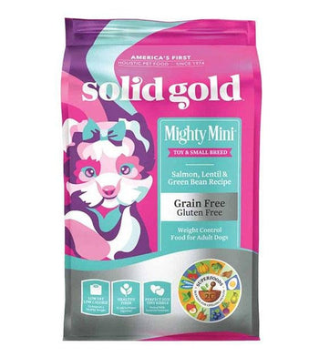 35% OFF: Solid Gold Mighty Mini Grain Free Weight Control (Salmon, Lentil & Green Bean) Dry Dog Food