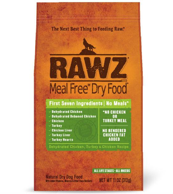 Rawz Meal Free Dehydrated Chicken, Turkey & Chicken Dry Dog Food