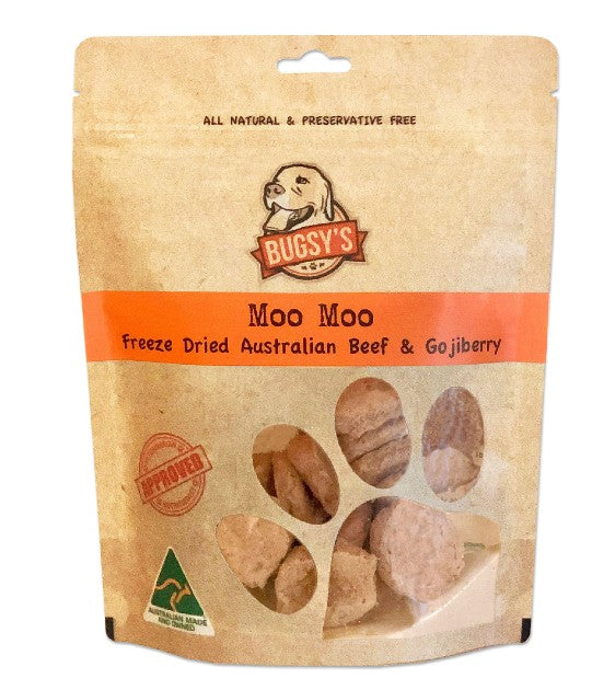 Bugsy Moo Moo (Grass Fed Australian Beef & Goji Berry) Dog Treats