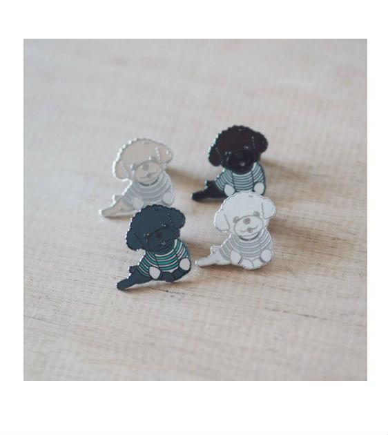 ohpopdog Oh! Lazy Poodle Dog Pin