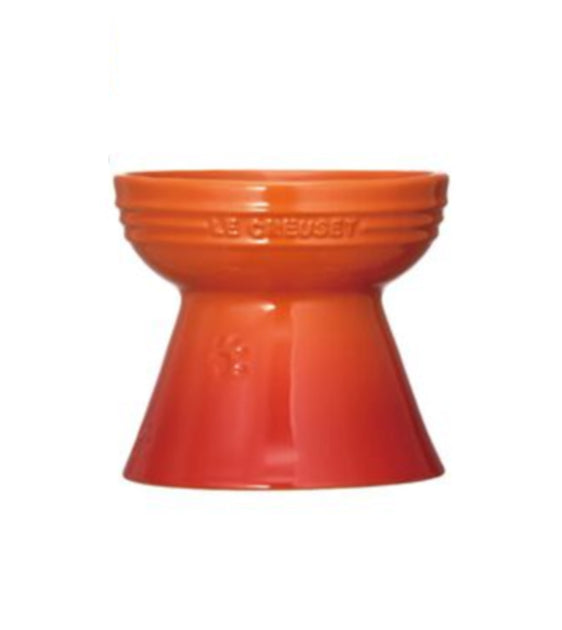 Le Creuset Handcrafted Orange Footed Pet Bowl