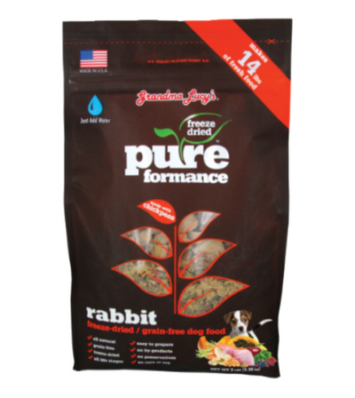 Grandma Lucy's PureFormance Freeze Dried Rabbit Recipe Dog Food
