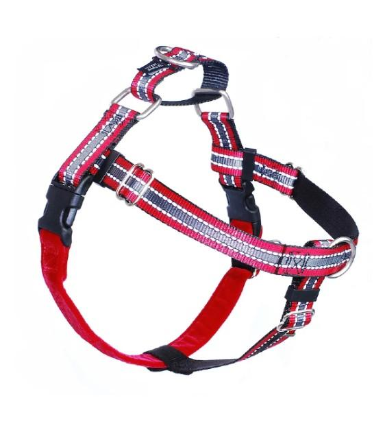 FREEDOM No-Pull Harness & Leash (Reflective Red) For Dogs