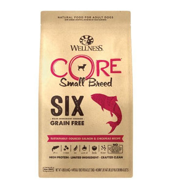 30% OFF: Wellness CORE SIX Limited Ingredient Small Breed Salmon & Chickpeas Recipe Dry Dog Food