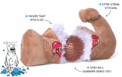 2 FOR $39.90: BarkShop Mr. Chewniverse's Muscles Dog Plush Toy