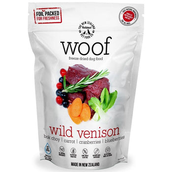 30% OFF: WOOF Freeze Dried Raw Venison Dog Food