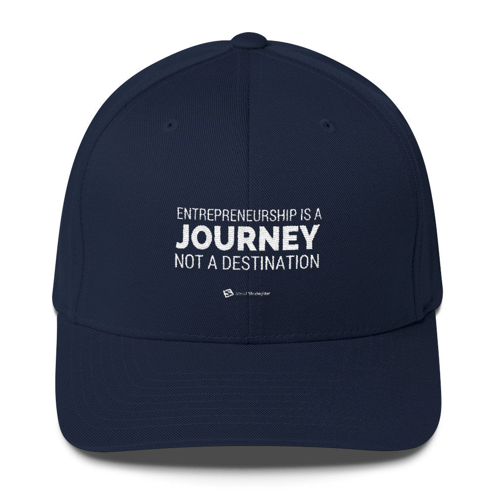 Entrepreneurship Is A Journey - Flexfit Structured Twill Cap