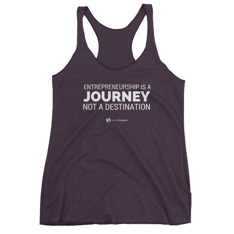 ENTREPRENEURSHIP IS A JOURNEY Women's tank top