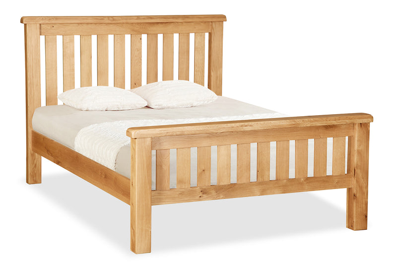 Alpine Oak 4'6 Double Slatted Bed
