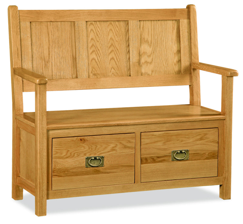 Alpine Oak Monks Bench