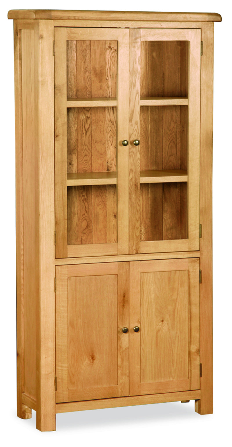 Alpine Oak Display Cabinet