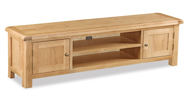 Alpine Oak Large Low Line TV Unit