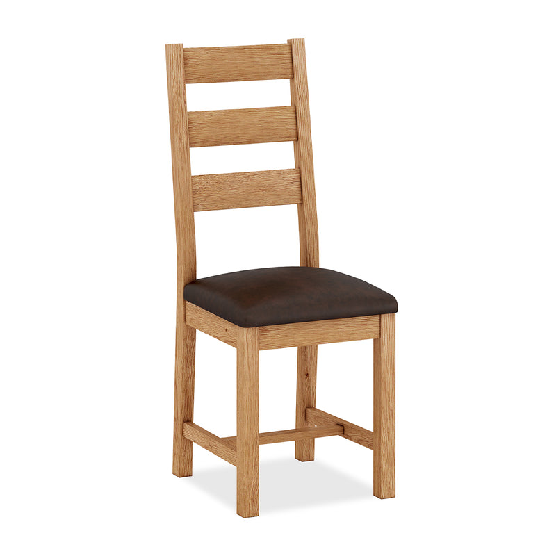 Laurel Oak Triple Slat Chair