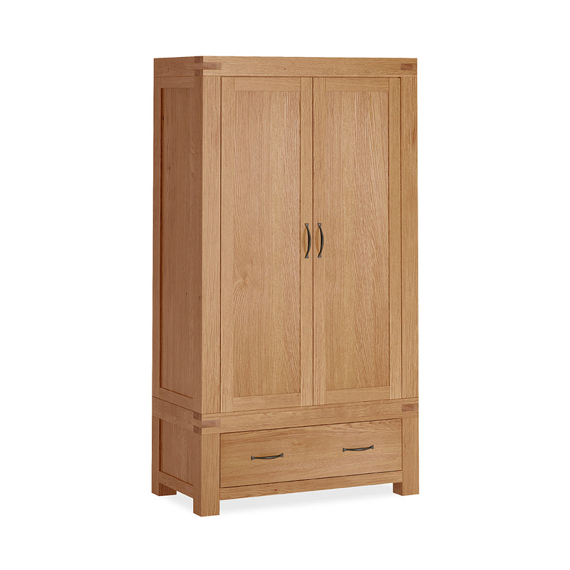 Laurel Oak Double Wardrobe