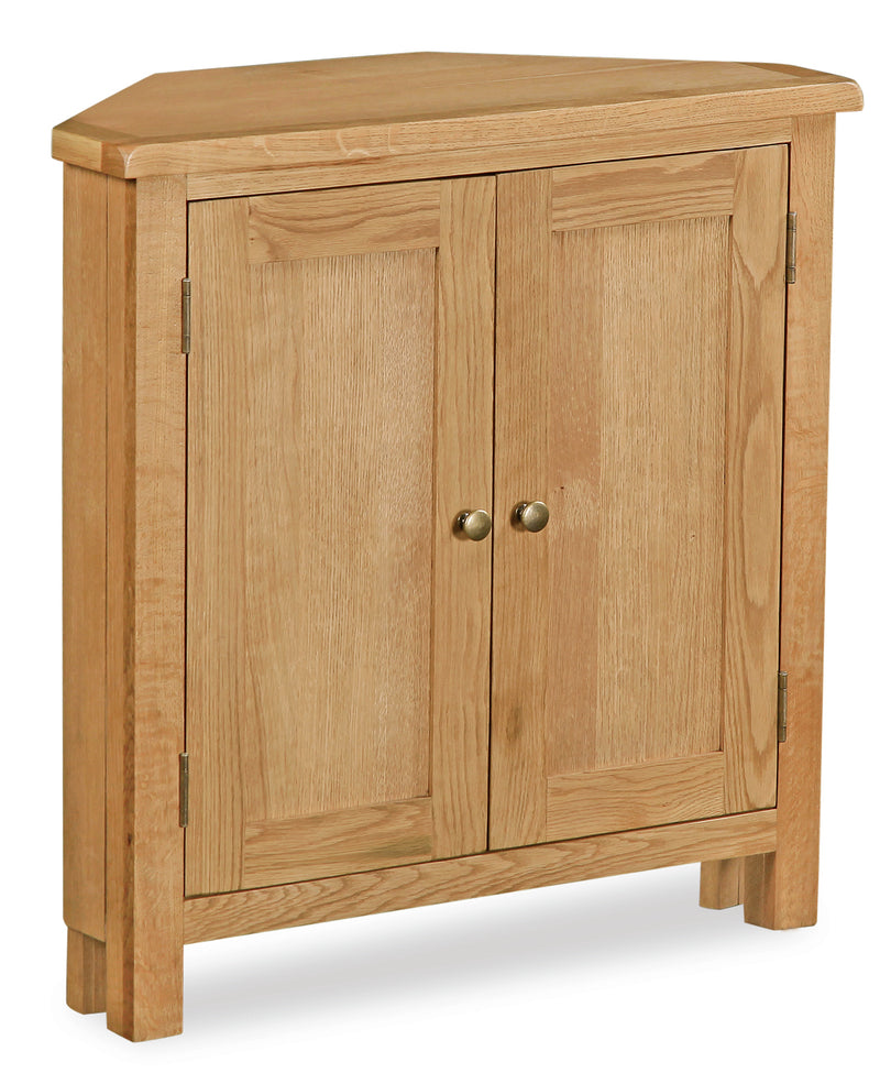 Alpine Oak Corner Cupboard