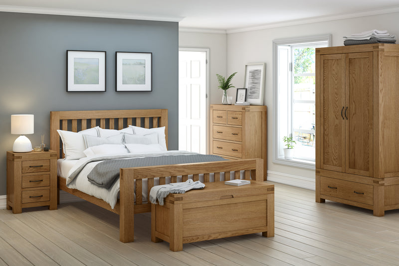 Laurel Oak 5' King Size Slatted Bed