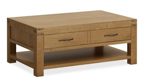 Laurel Oak Coffee Table with Drawer