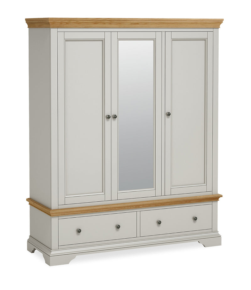 Ivy Oak Triple Wardrobe