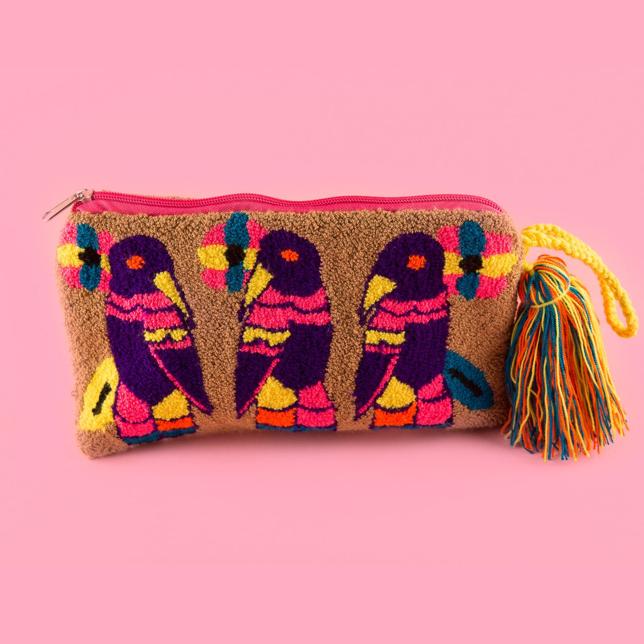 Brown Bird Clutch