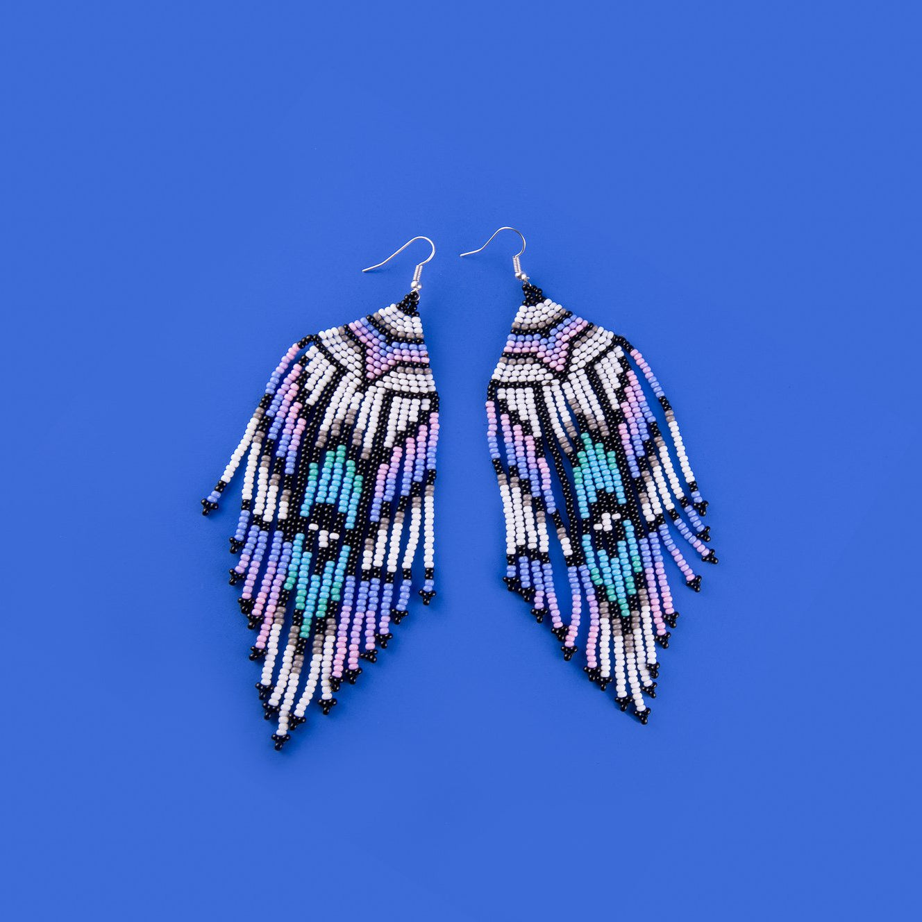 Feather Earrings Purple