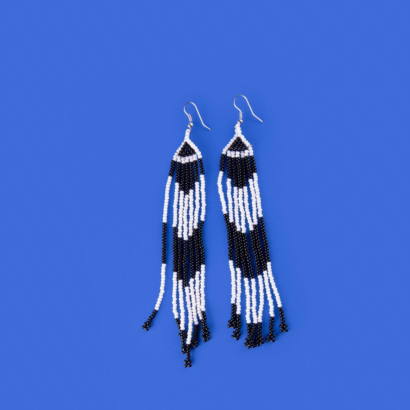 B&W long earrings
