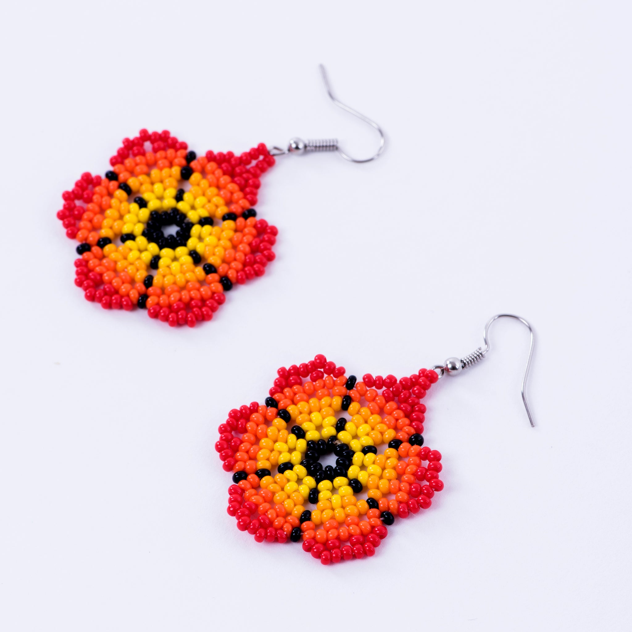 Sunset Flower Earrings