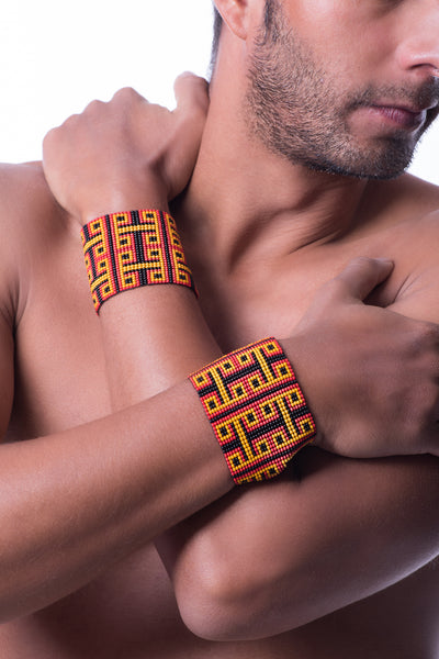 Red Warrior Cuffs