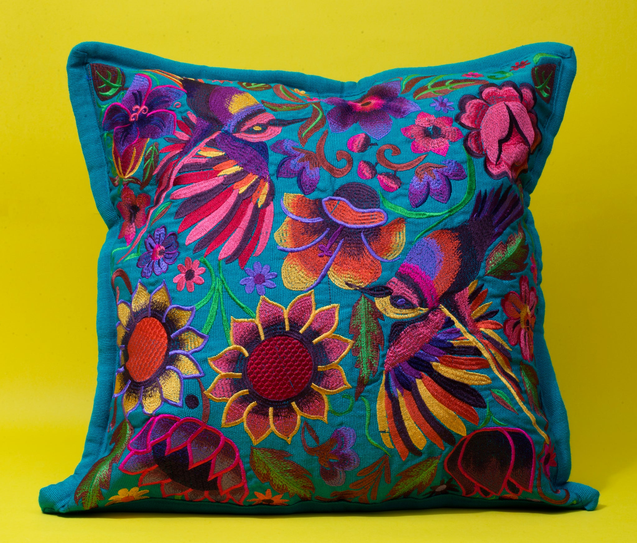 Blue Mitla Pillow