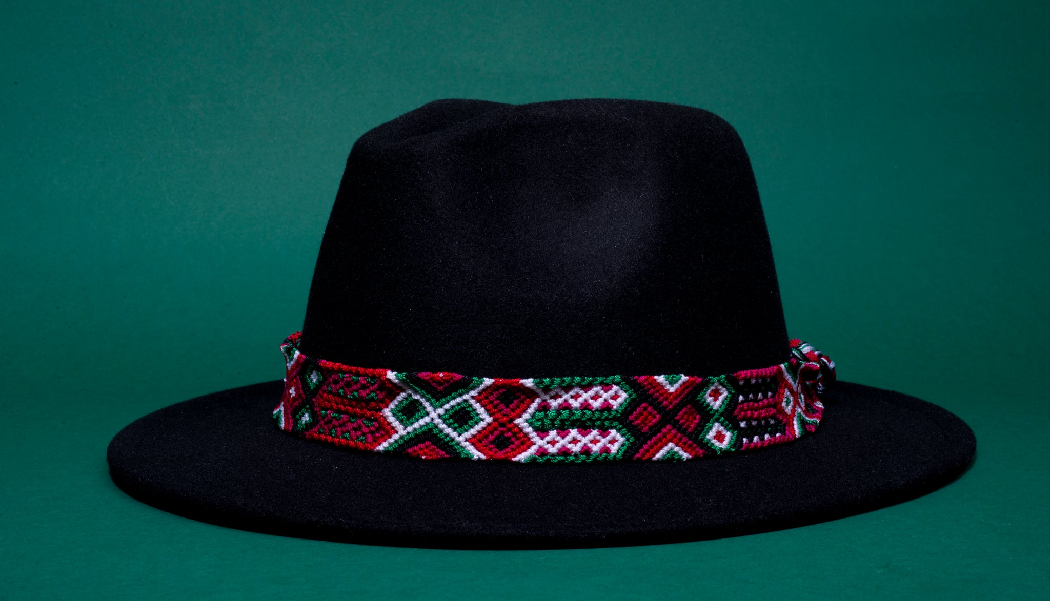 Red Weaved Hat Belt