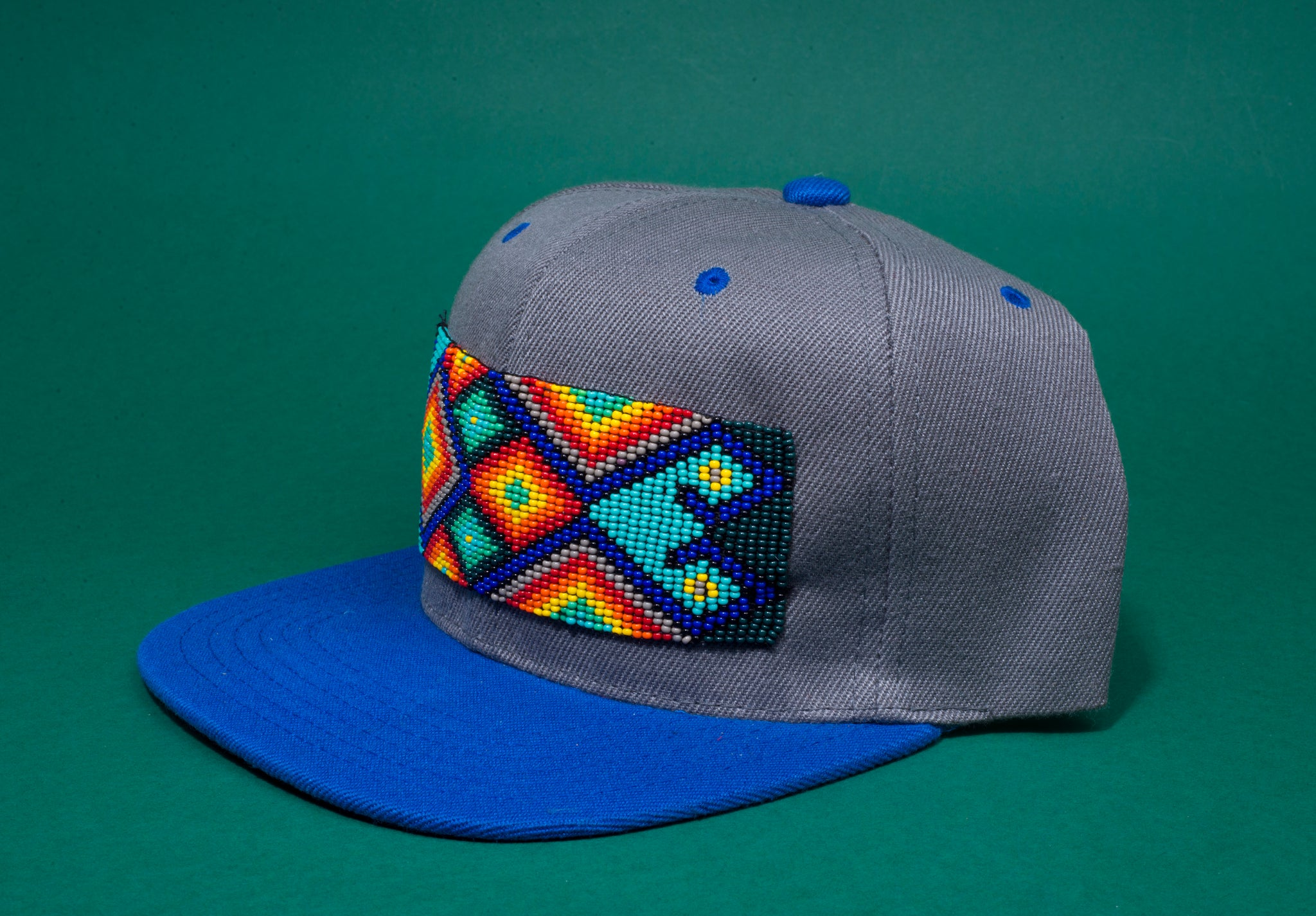 Blue beaded Hat
