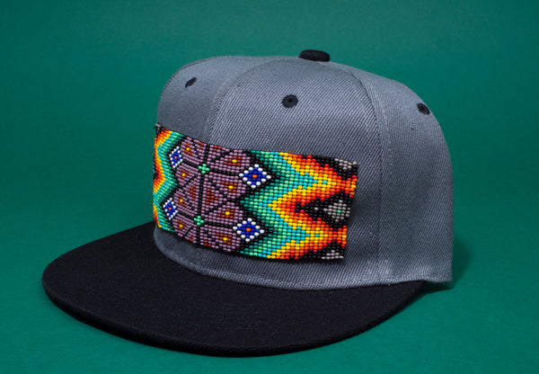 Black Beaded Hat