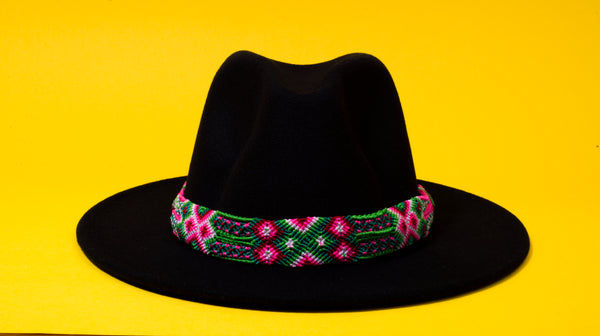 Green Pink hat belt